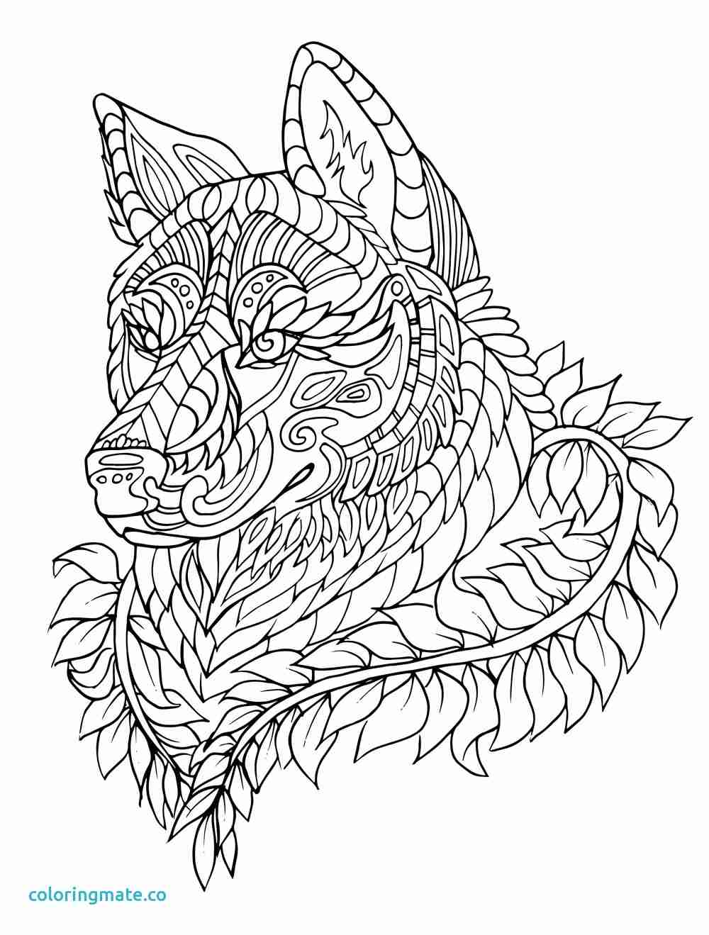 1000x1319 Wolf Coloring Page Unique Free Printable Pages For Showy Adults