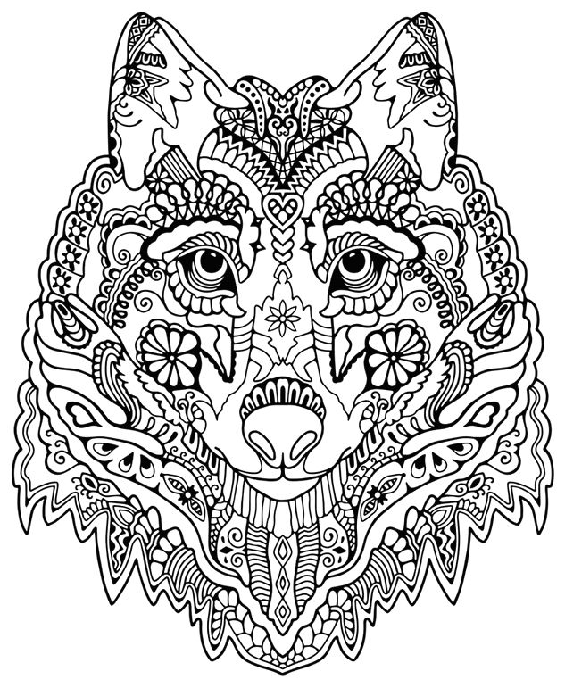 633x771 Wolf Coloring Sheets Wolf Coloring Pages For Adults Coloring