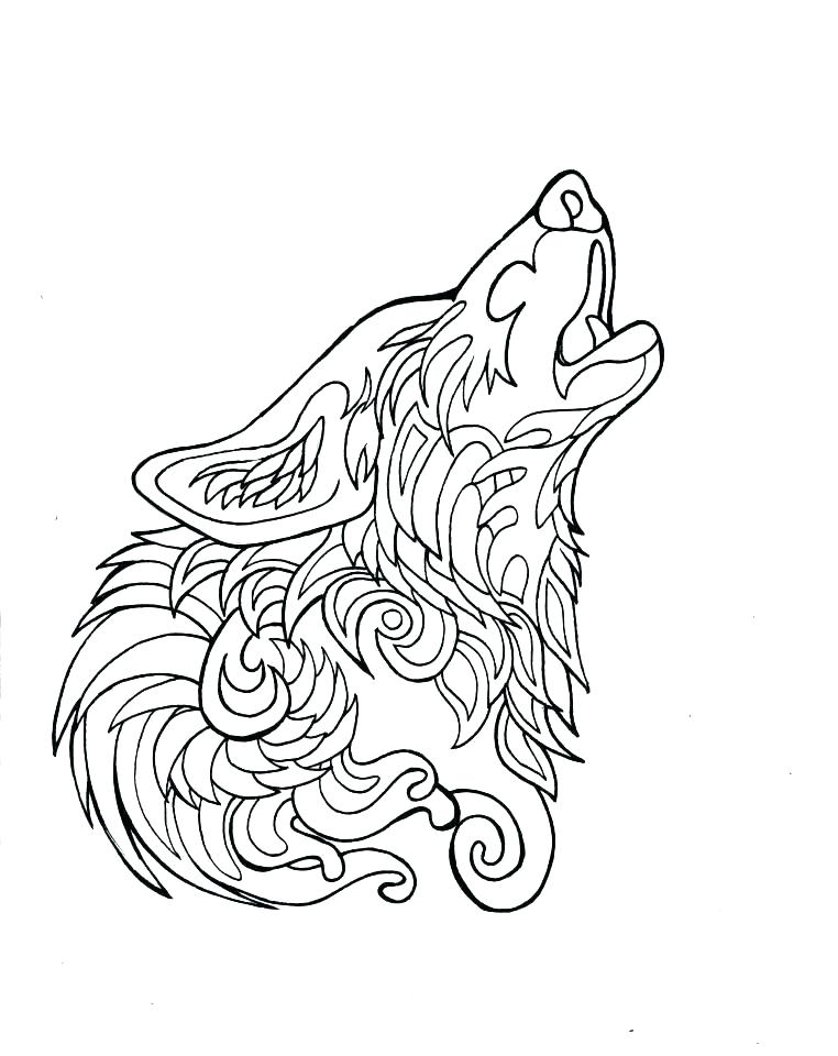 762x960 Winged Wolf Coloring Pages