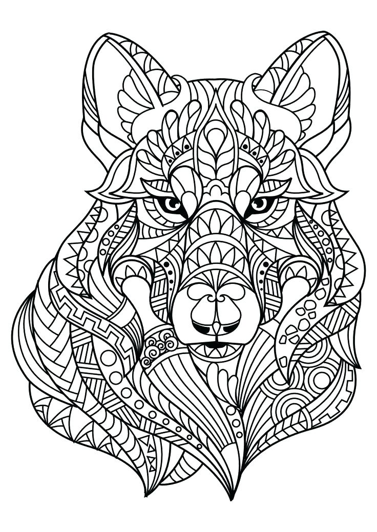 736x1040 Coloring Pages For Adults Printable Free Free Printable Wolf