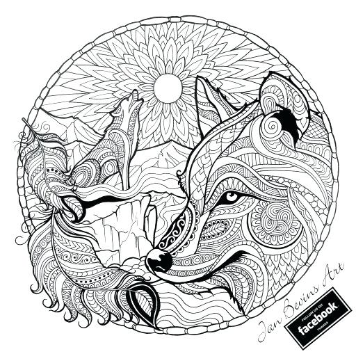 512x509 Get This Free Printable Wolf Coloring Pages With Prepare