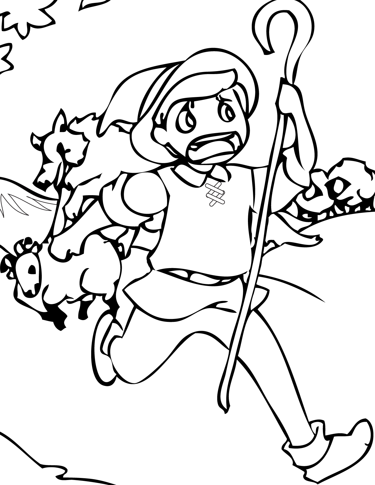 1275x1650 The Boy Who Cried Wolf Coloring Pages