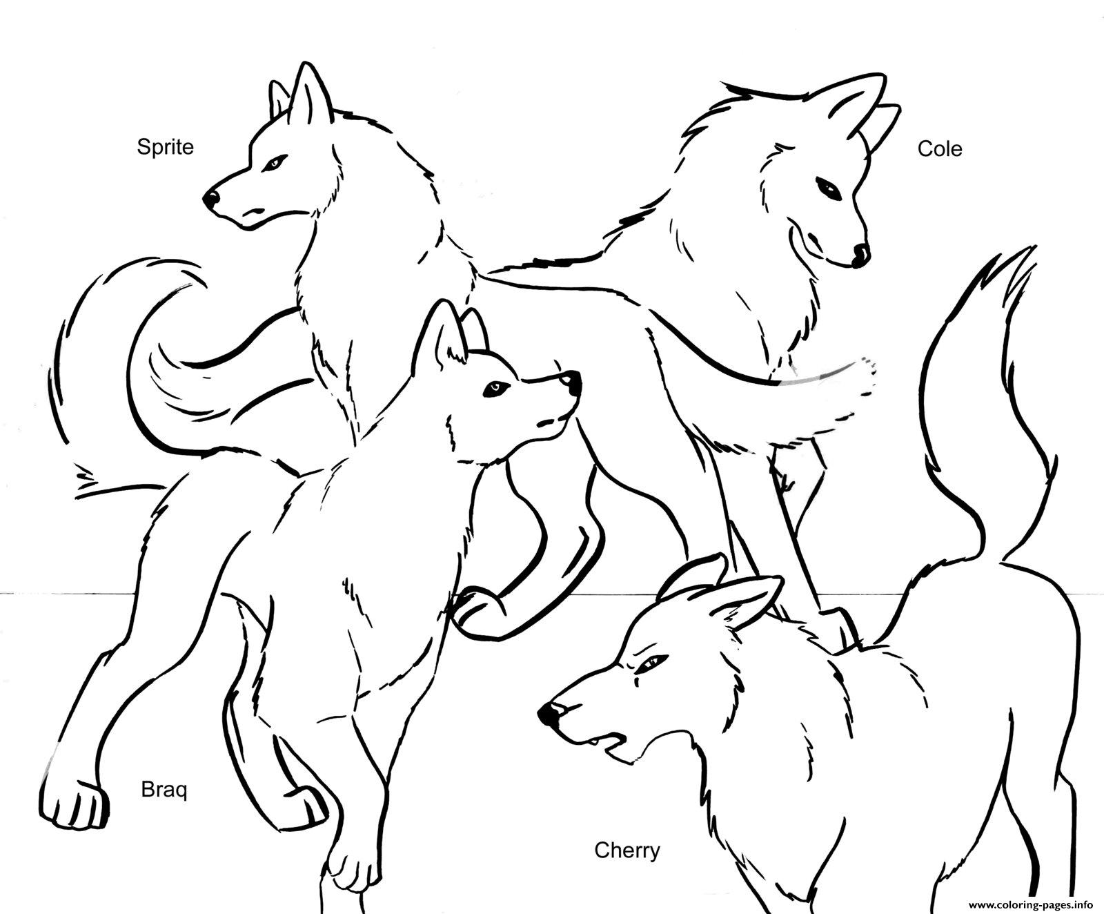 1600x1324 Wolf Pack Team Coloring Pages Printable