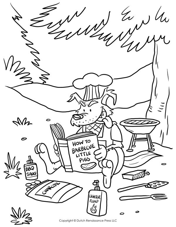 600x776 Big Bad Wolf Coloring Page The Three Little Pigs
