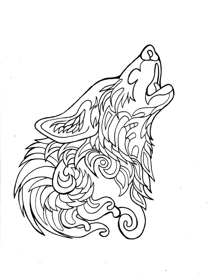 762x960 Wolf Coloring Book