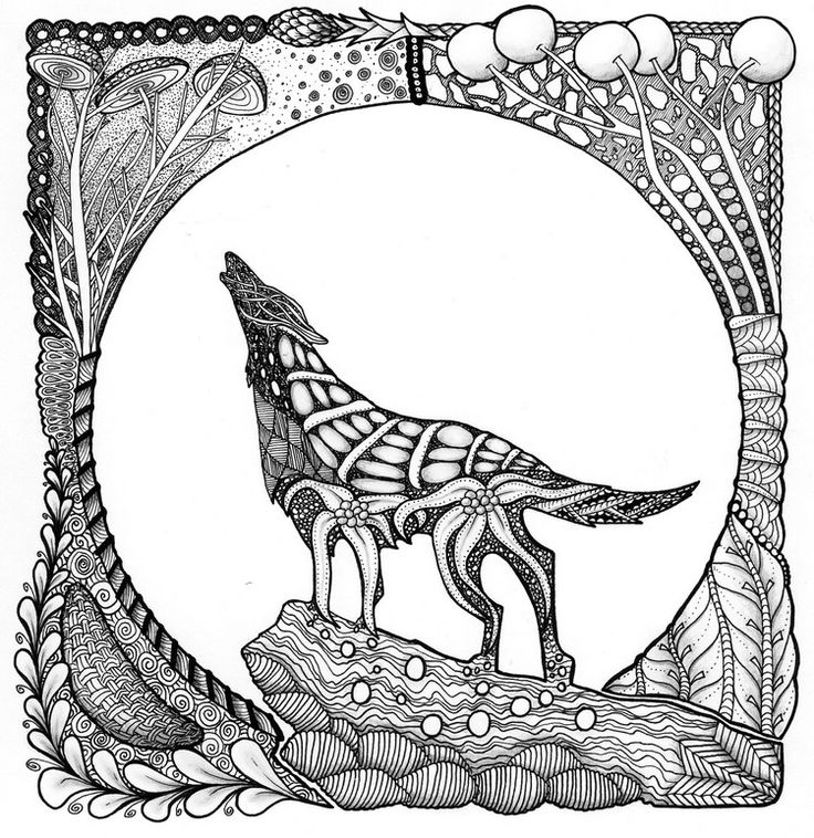 736x758 Wolf Coloring Pages For Adults Best Wolf Coloring Pages Images