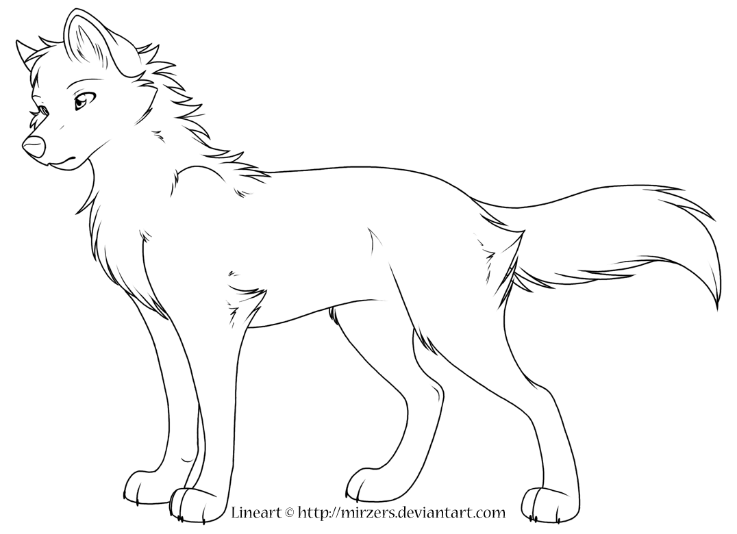 1076x780 Professional Picture Of A Wolf To Color Wealth Pictures Anime