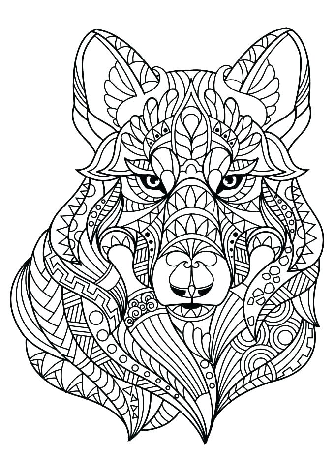 679x960 Anime Wolf Coloring Pages
