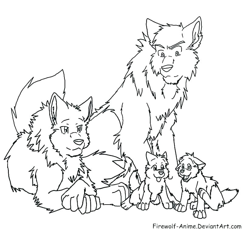 800x760 Wolf Coloring Sheet