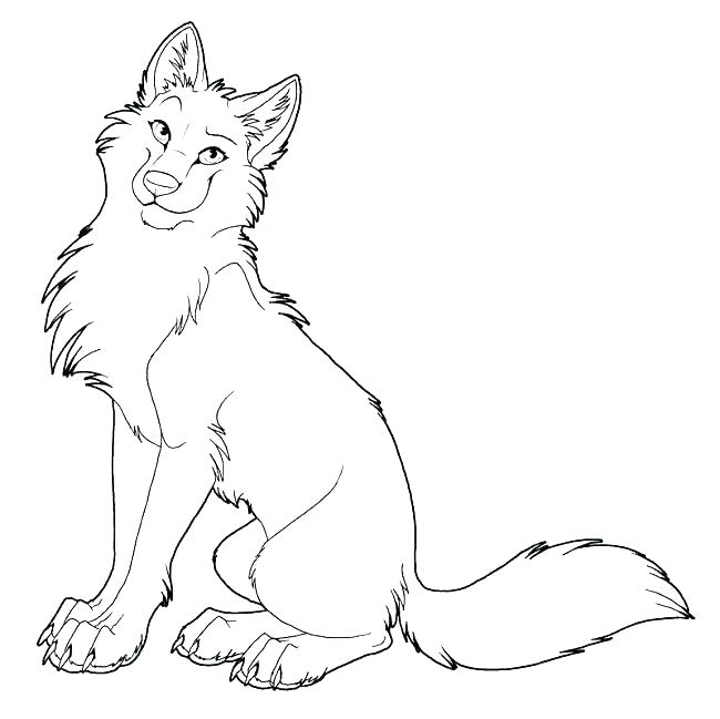 650x649 Wolf Coloring Page