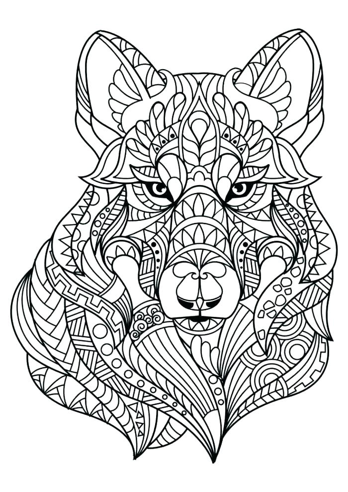 700x989 Wolf Coloring Pages Wolf Coloring Page Adult Realistic Wolf Pup