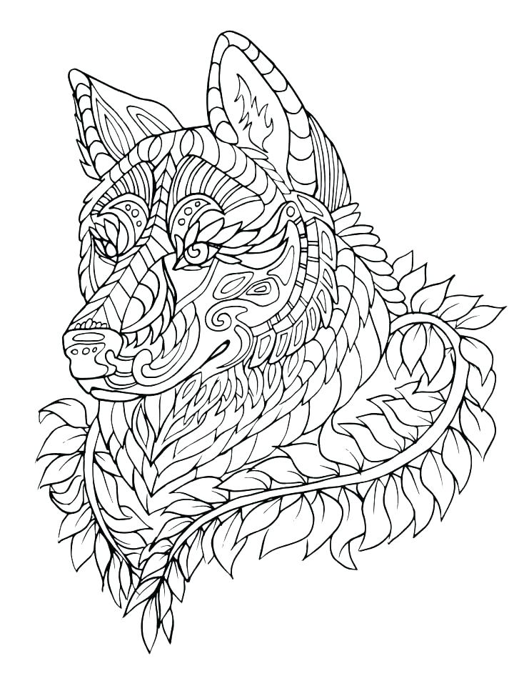 727x960 Wolves Coloring Pages