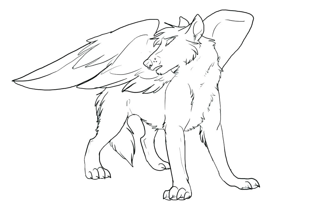 1024x683 Anime Wolf Coloring Pages