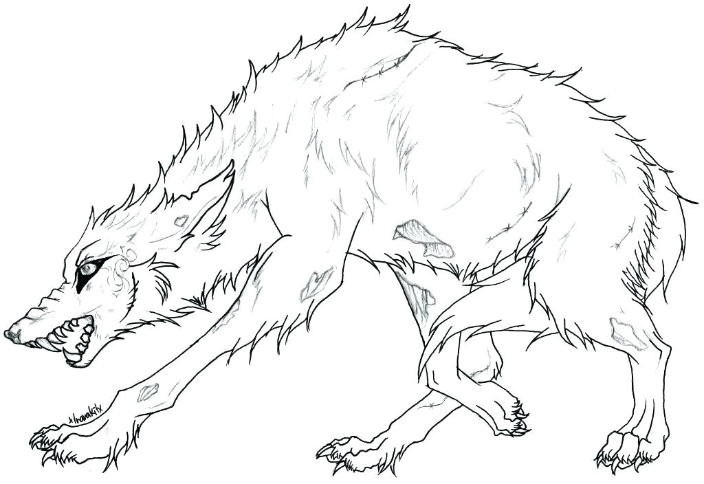 1024x704 Awesome Wolf Coloring Pages