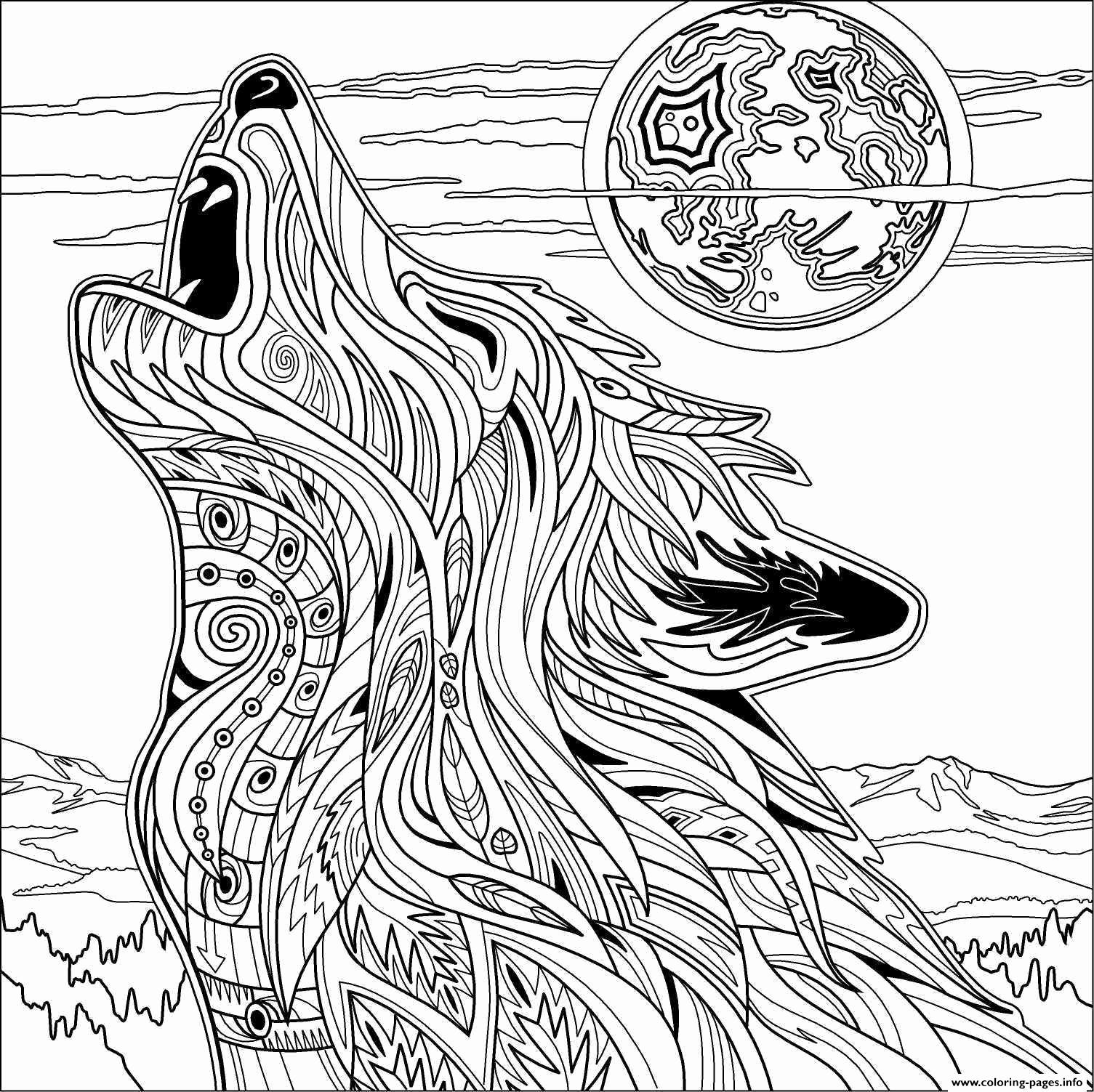 1505x1503 Fresh Wolf Coloring Page Fresh Wolf For Adult Coloring Pages