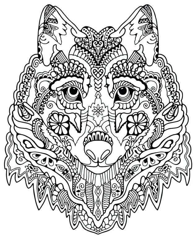 633x771 Wolf Coloring Pages Wolf Colouring Pages To Print