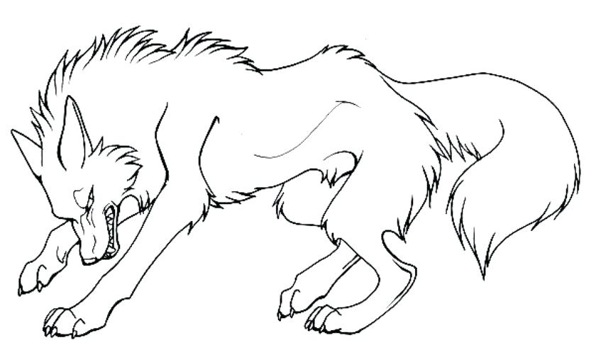 840x511 Wolves Coloring Pages Angry Cartoon Wolf Coloring Pages To Print