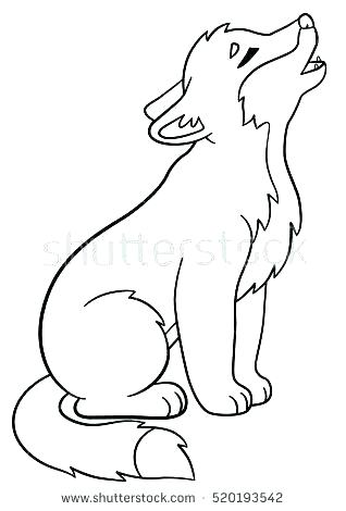 318x470 Cute Wolf Coloring Pages Wolf Pup Coloring Pages Coloring Page