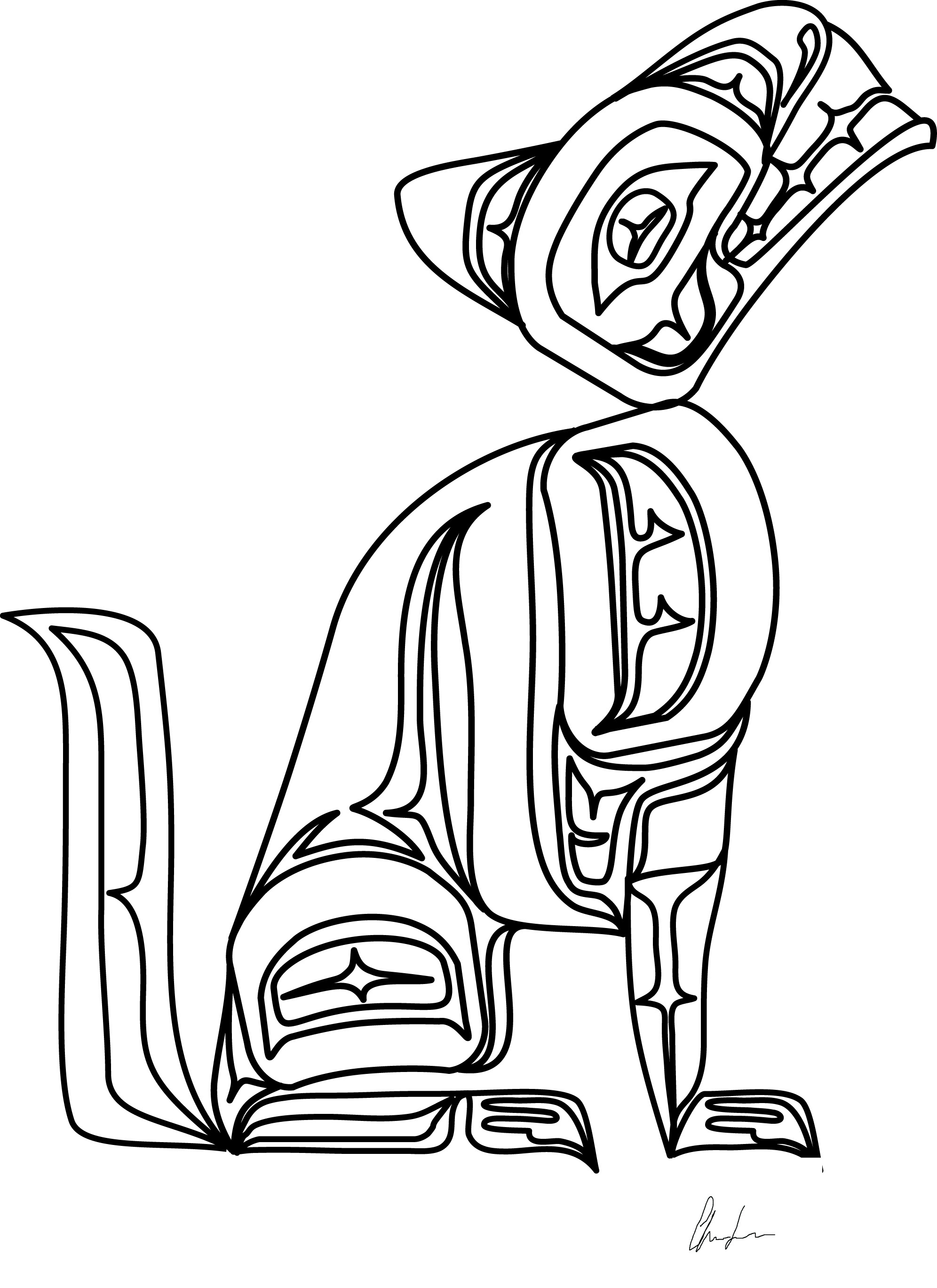 1992x2737 Awesome Health And Fitness Coloring Page Wolf Cub Achievement