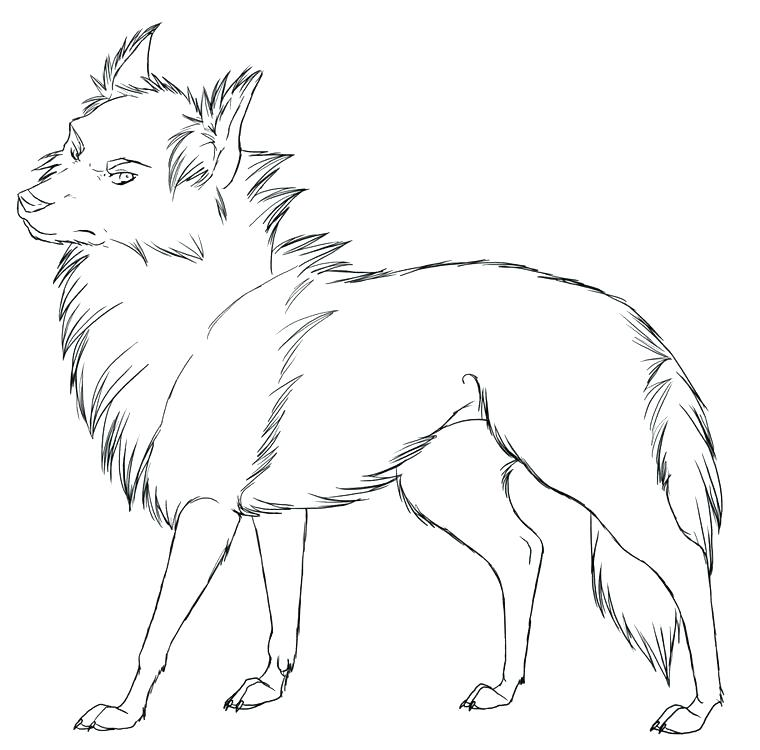 760x750 Awesome Wolf Coloring Pages For Winged Wolf Cub