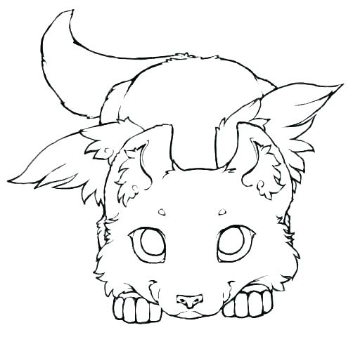 502x480 Winged Wolf Coloring Pages