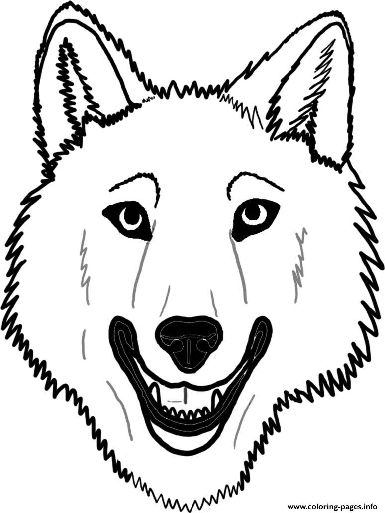 774x1031 Wolf Face Coloring Pages Printable
