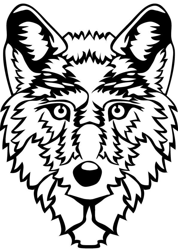 595x842 Wolf Coloring Pages For Kids To Print This Handout Please Click