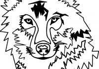 200x140 Coloring Page Wolf Face Beautiful Tattoo Wolf Krissy Tattoos