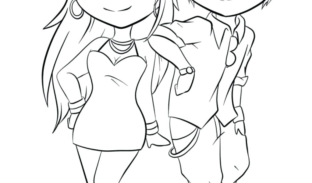 1024x600 Awesome Anime Coloring Pages And Cute Anime Couples Coloring Pages
