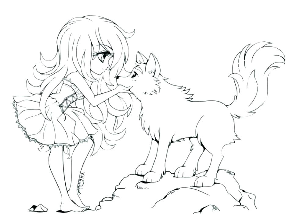 960x730 Free Anime Coloring Pages Color Printable Wolf Girl For Free Anime