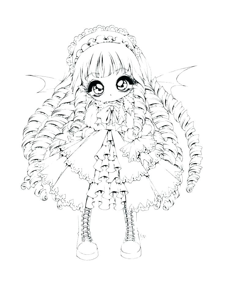 It is an image of Adorable Anime Wolf Girl Coloring Pages