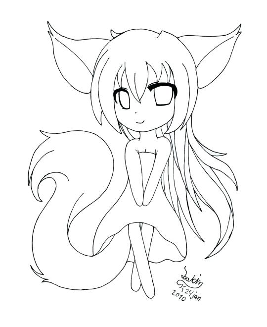 540x660 Anime Girl Coloring Pages Anime Wolf Girl Coloring Page Anime