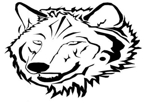 Wolf Head Coloring Pages
