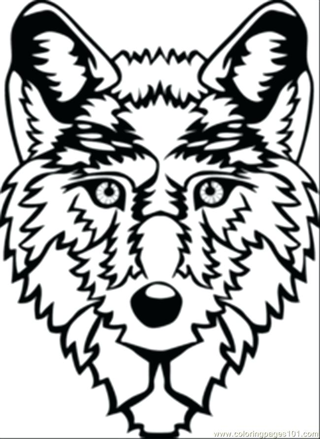 650x891 Inspirational Coloring Pages Of Wolves For Wolf Head Coloring Page