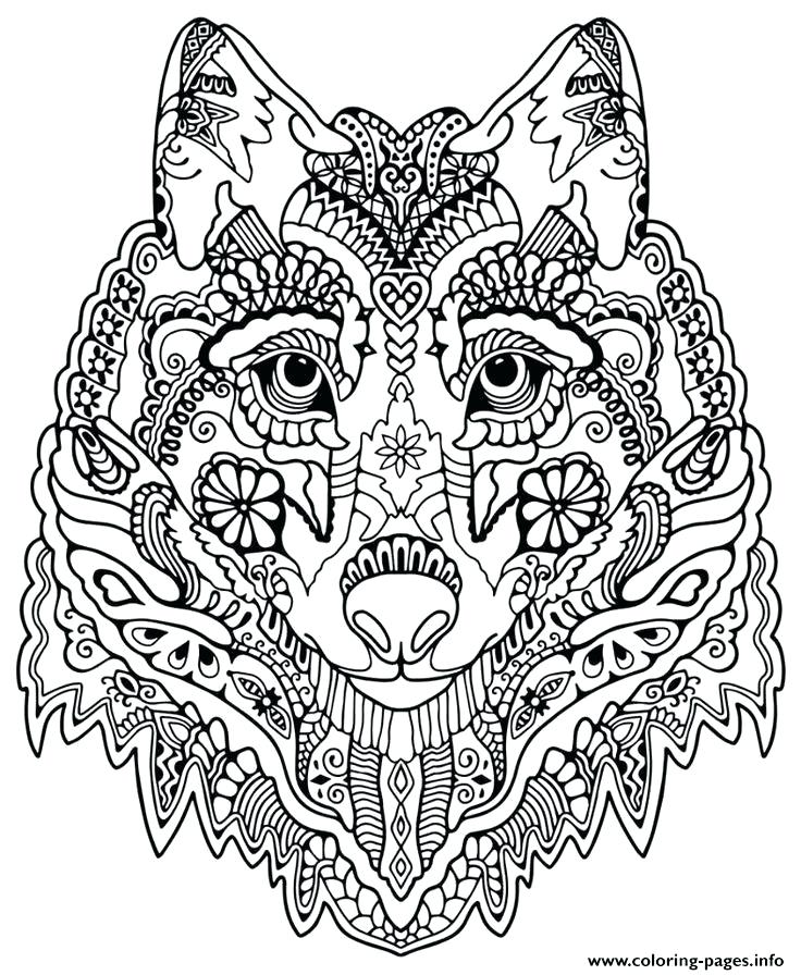 736x896 Wolf Face Coloring Page Head Coloring Page Coloring Pages Simple