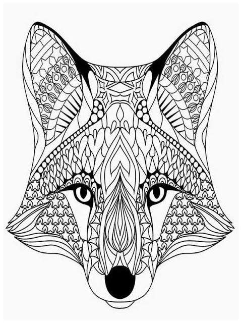 480x640 Coloring Pages Adults Wolves Head Animals Coloring Pages