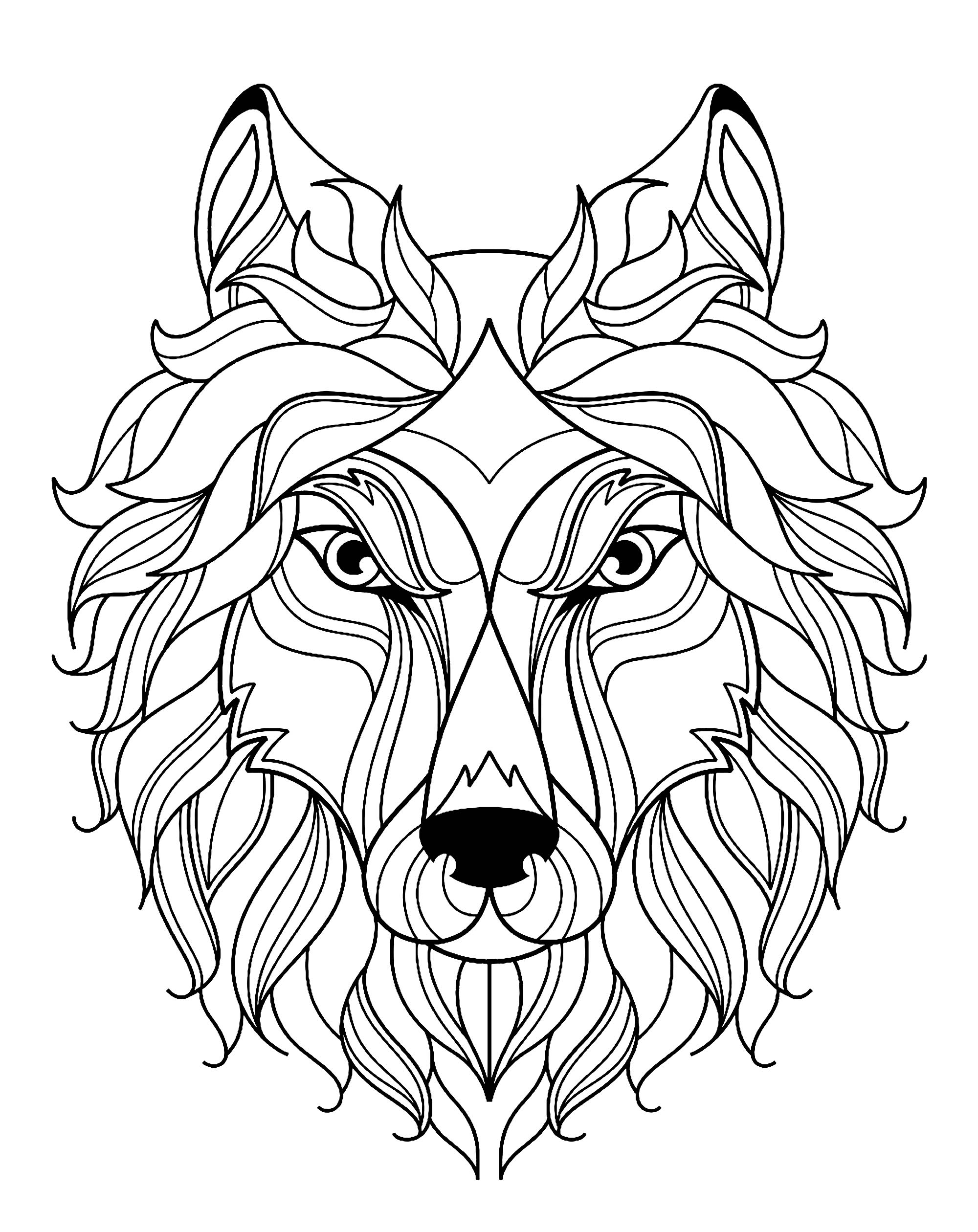 2000x2520 Big Wolf Head Simple