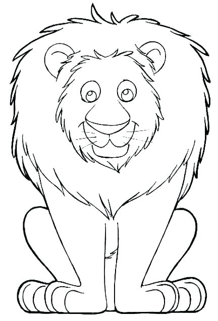 432x637 Coloring Pages A Lion Head Coloring Page Coloring Pages