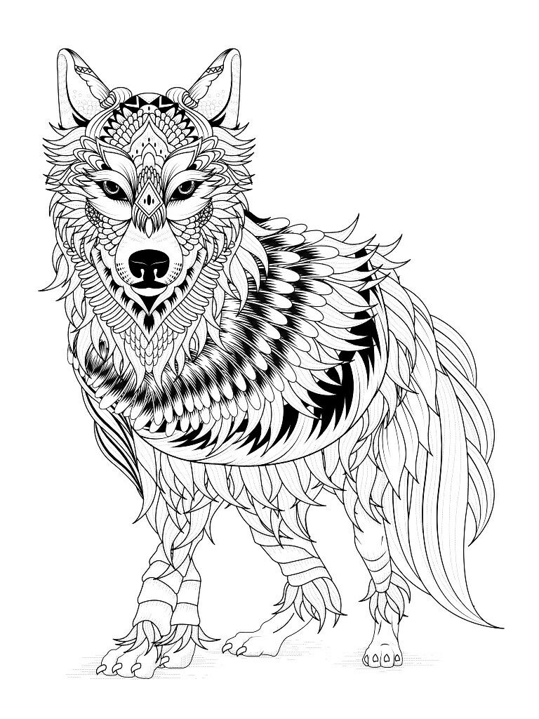 768x1024 Fresh Wolf Mandala Coloring Pages Collection Printable Coloring