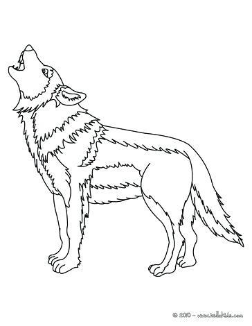 364x470 Howling Wolf Coloring Pages Wolf Howling Moon Coloring Pages