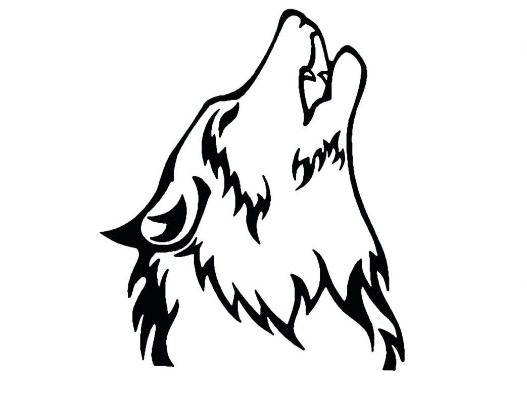 1043x782 Howling Wolf Photo Wallpaper And The Moon Coloring Page Pages