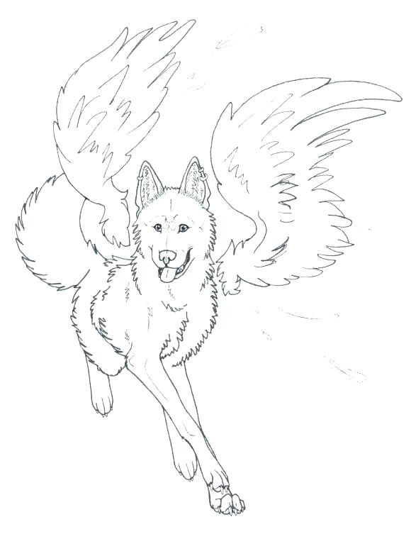 580x753 Howling Wolf Coloring Pages Anime Wolf Coloring Pages Wolves