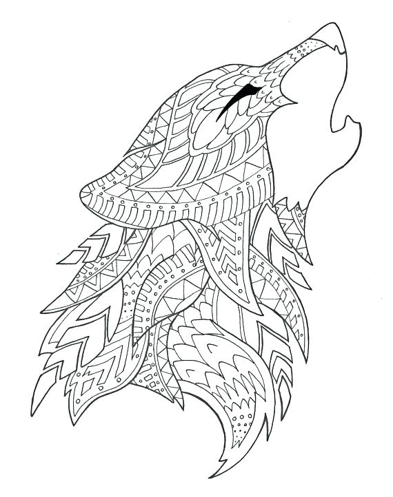 570x722 Howling Wolf Coloring Pages Wolf Coloring Pages Free Free Coloring