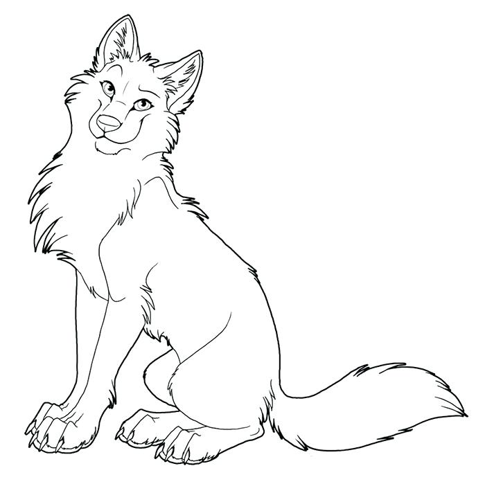 700x699 Howling Wolf Coloring Pages Wolf Outline Template Wolf Howling