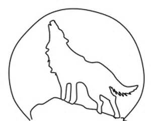 300x240 A Wolf Howling At The Moon Drawing