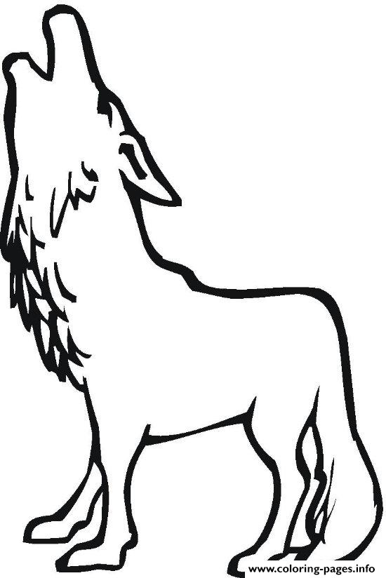 550x824 A Wolf Howling Coloring Pages Printable
