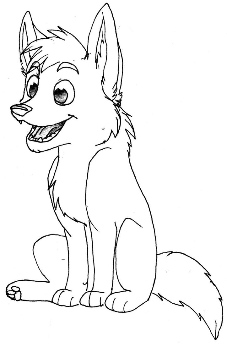 723x1104 Cartoon Wolf Coloring Pages