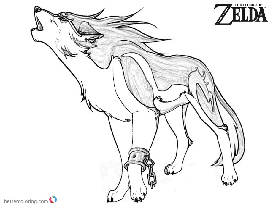 Wolf Link Coloring Pages at GetDrawings.com | Free for ...