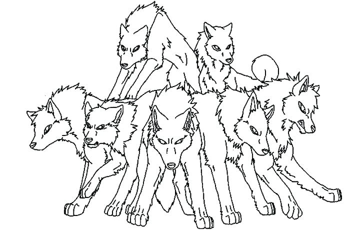 720x460 Coloring Wolf Anime Wolf Coloring Pages Wolf Pack Coloring Pages