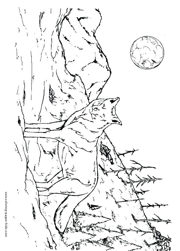 590x821 Wolf Pack Coloring Pages Realistic Wolf Howling Coloring Pages